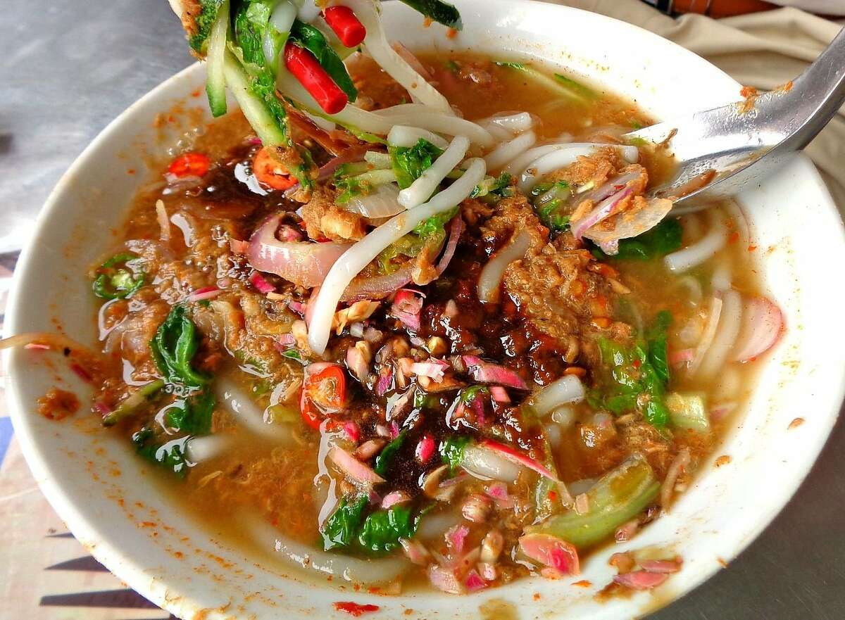 Uncle Sok Hee, an upcoming Malaysian-Chinese cafe from Azalina Eusope, will serve asam laksa, a spicy-sour fish noodle soup.
