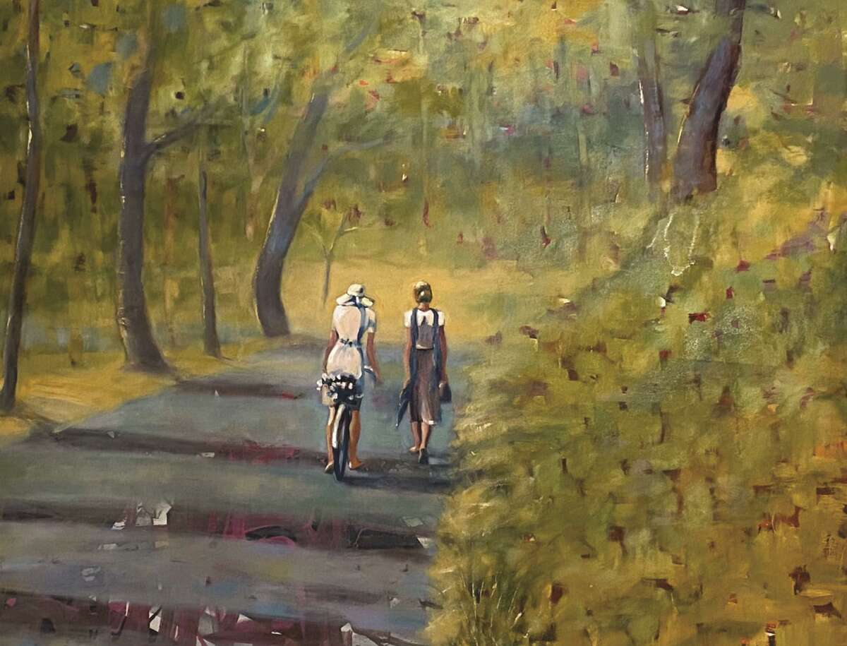 Barbara Able's oil on canvas work
