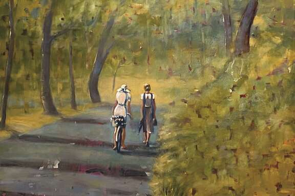 """Barbara Able's oil on canvas work """"A walk in the park"""" is part of the show Reinvention which is on view at Archway Gallery from Sept. 5 - Oct. 1"""