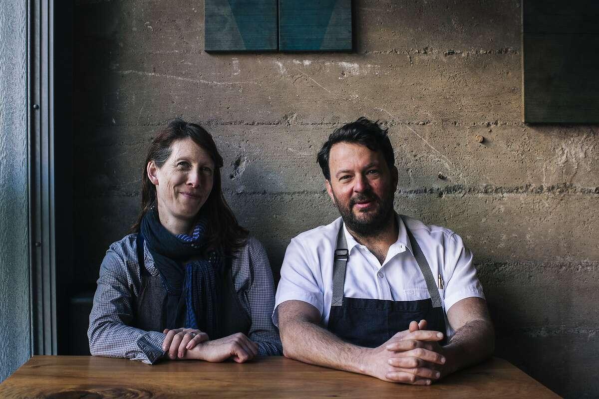 Nicole Krasinski and Stuart Brioza, chef proprietors of State Bird Provisions, sit for a portrait in San Francisco, Calif. on Tuesday, Feb. 18, 2020.