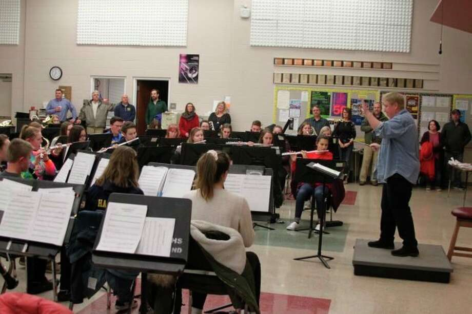Manistee Area Public Schools will have band-specific PPE, such as bell covers and special face masks, to allow band students to safely play their instruments. (File photo)