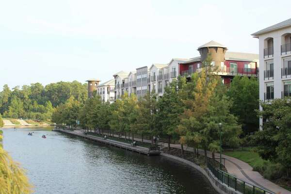 A view of the Boardwalk at Town Center Apartments.