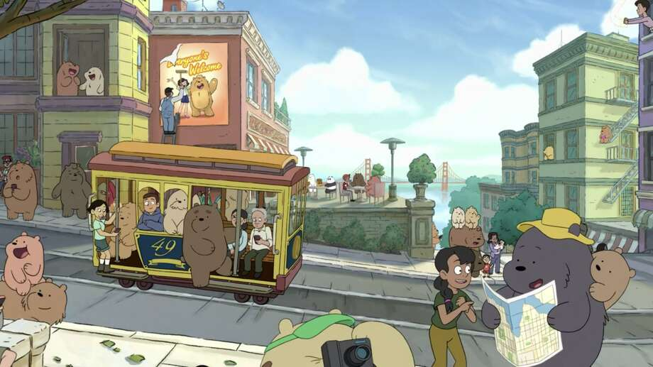 Bears and humans living happily among one another in San Francisco. Photo: Cartoon Network