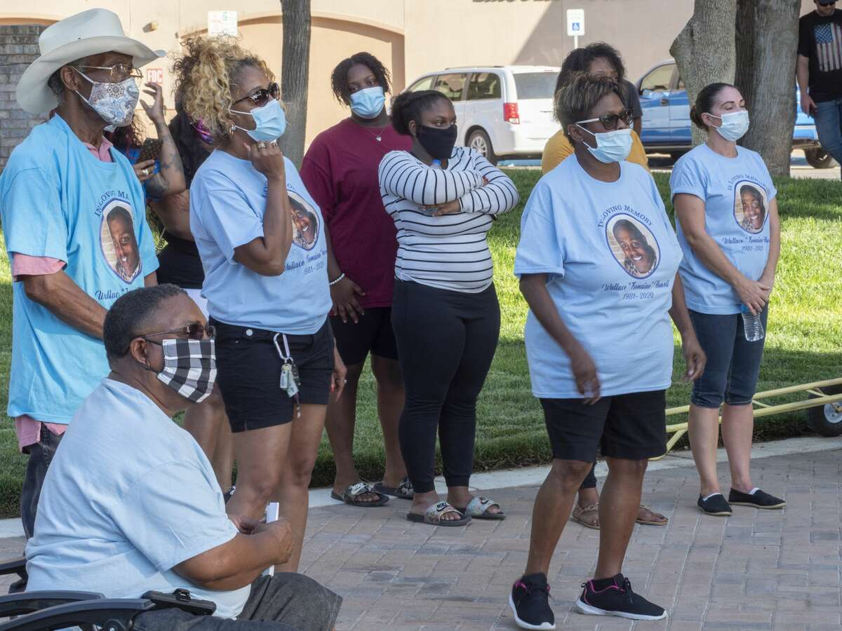 Friends, family and supporters come together 09/03/2020 in Noel Heritage Plaza in Odessa, Texas during a prayer vigil for Tremaine Howell who died in police custody at the Ector County Jail. Tim Fischer/Reporter-Telegram