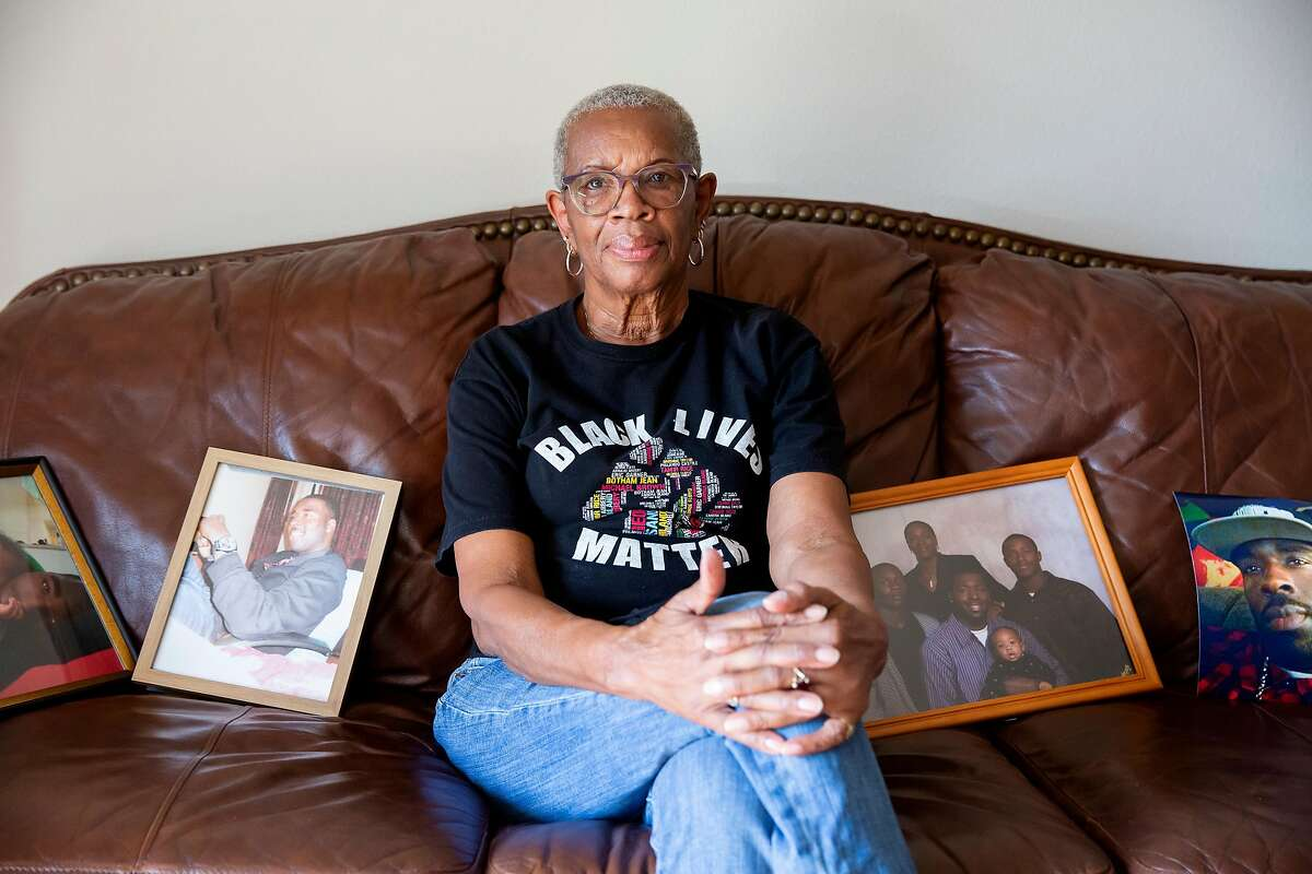 Addie Kitchen at her home in Vallejo, Calif. on Thursday, September 3, 2020. Kitchen's grandson, Steven Taylor was shot on April 18, 2020 by a San Leandro police officer inside of a Walmart store. Recently the police officer involved in the shooting was charged with voluntary manslaughter.