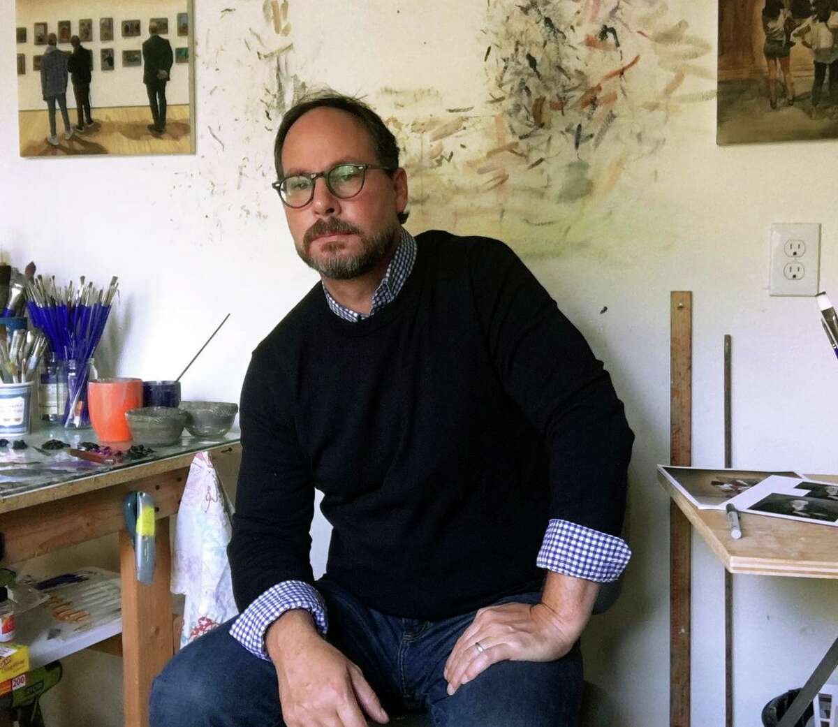Joe Fig, an artist and author known for work that explores the artistic creative process and the spaces where art is made, will be featured in a Sept. 10 Zoom discussion hosted by the Bruce Museum.