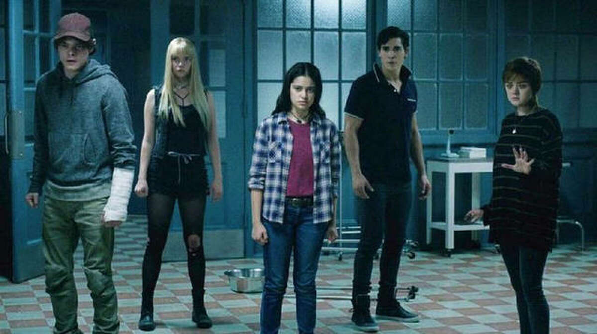 """""""The New Mutants,'"""" left to right, Charlie Heaton, Anya Taylor-Joy, Blu Hunt, Henry Zaga and Maisie Williams, in the superhero horror film release, """"The New Mutants,"""" the first since AMC Theatres reopened to the public Aug. 27."""
