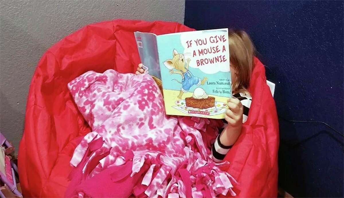 One way you can change up a remote learning routine is to create a reading nook with a bean bag. (Photo provided)