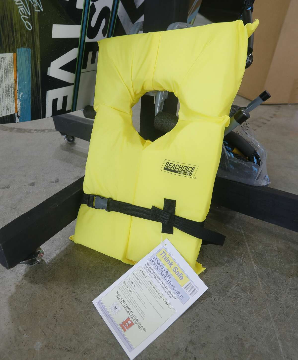 While less fashionable, the more traditional Think Safe life vest is safer than more form fitting options, since the device will keep your head above water. With all of this year's drowning victims on Lake Conroe not wearing life jackets to date, Montgomery County law enforcement and vendors continue to urge lake visitors to wear safety vests.