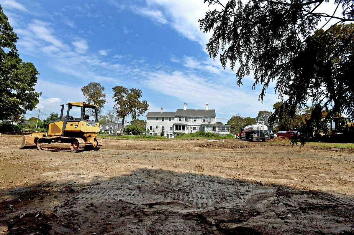 Madison, Connecticut - Tuesday, August 25, 2020: Demolition of the General's Residence at 908 Boston Post Road in Madison began Tuesday. Carley, however, does not believe these tally marks have anything to do with enslaved people .