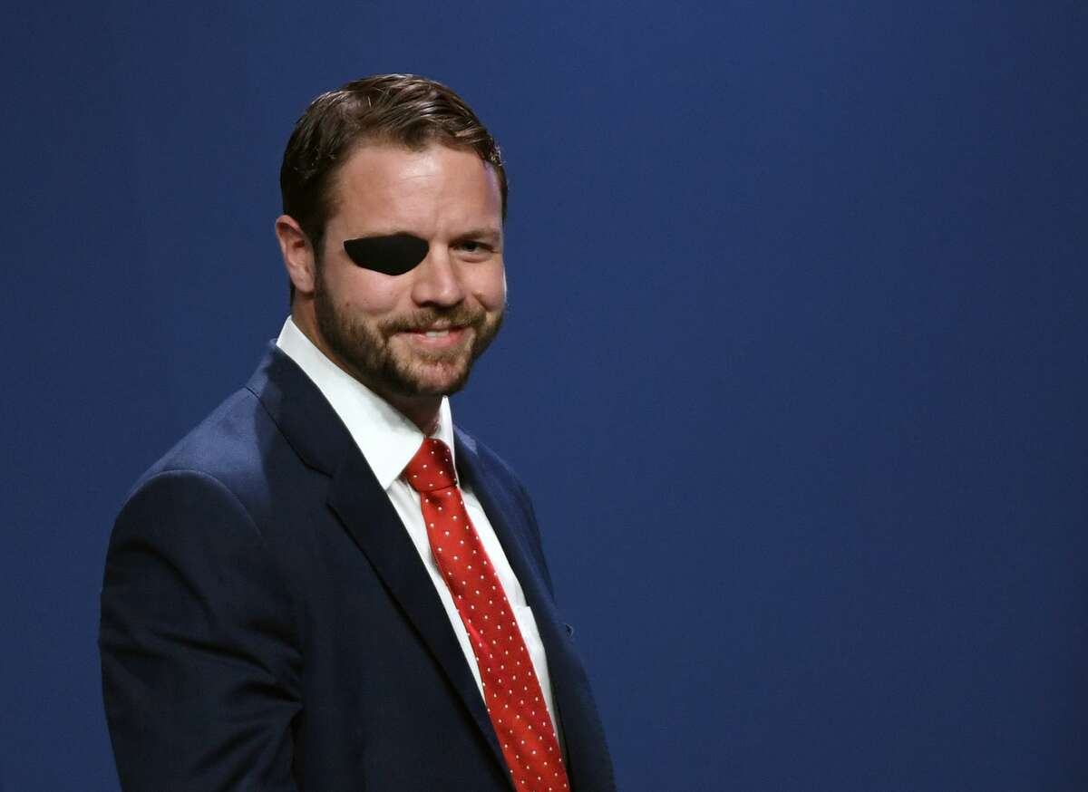 LAS VEGAS, NEVADA - APRIL 06: U.S. Rep. Dan Crenshaw (R-TX) smiles after speaking at the Republican Jewish Coalition's annual leadership meeting at The Venetian Las Vegas after appearances by U.S. President Donald Trump and Vice President Mike Pence on April 6, 2019 in Las Vegas, Nevada. Trump has cited his moving of the U.S. embassy in Israel to Jerusalem and his decision to pull the U.S. out of the Iran nuclear deal as reasons for Jewish voters to leave the Democratic party and support him and the GOP instead. (Photo by Ethan Miller/Getty Images)