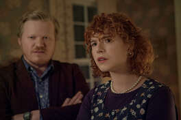 """Jesse Plemons, left, and Jessie Buckley in """"I'm Thinking of Ending Things."""""""