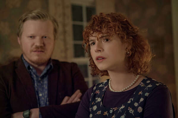 "Jesse Plemons, left, and Jessie Buckley in ""I'm Thinking of Ending Things."""