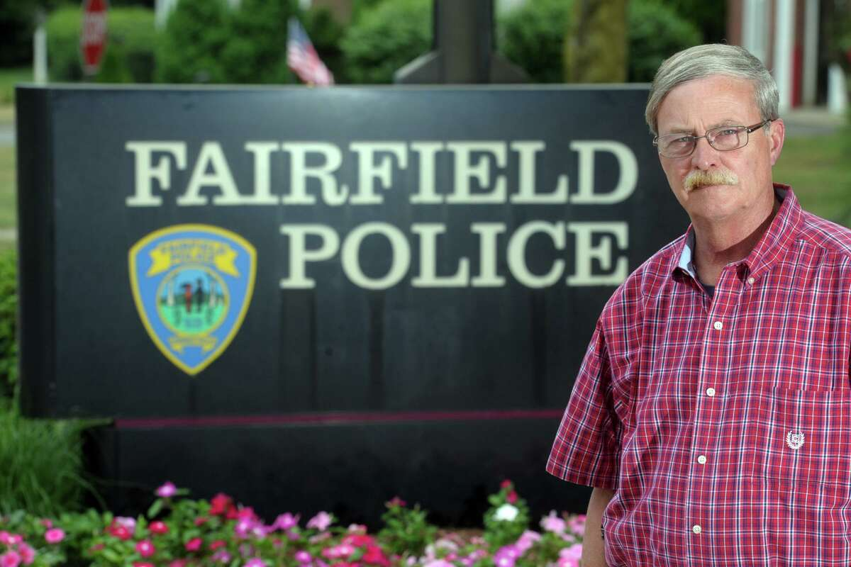 Fairfield Police Chief Christopher Lyddy poses in front of police headquarters, in Fairfield, Conn., on June 25, 2020.