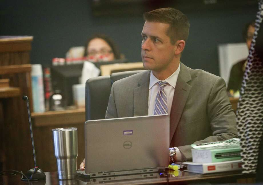 Chief Vehicular Crimes Prosecutor Andrew James, with the Montgomery County District Attorney's Office, is seen in Conroe's 359th District Court in this 2017 file photo ahead of an intoxication manslaughter case. Photo: Michael Minasi, Staff Photographer / Houston Chronicle / © 2017 Houston Chronicle