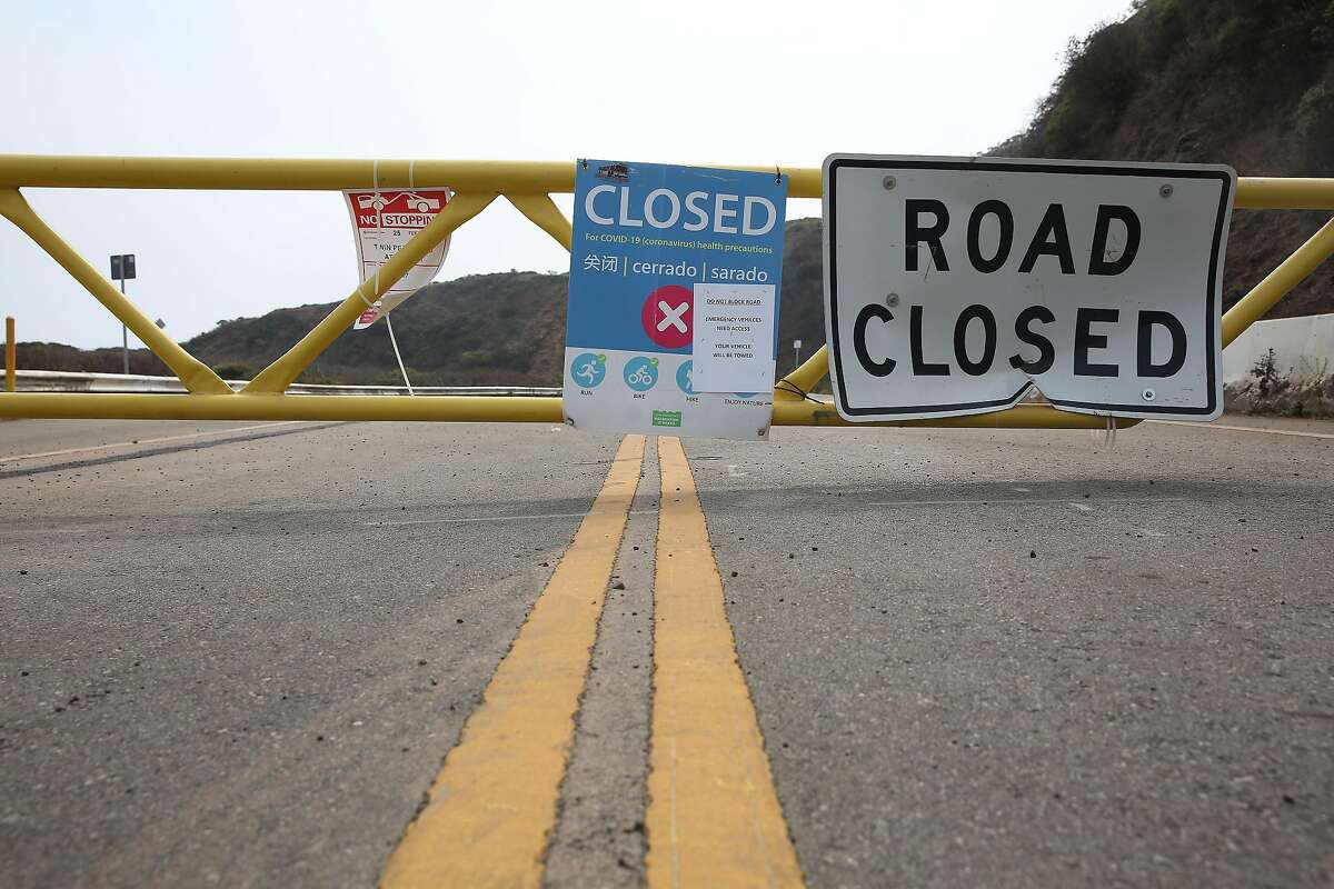Twin Peaks Boulevard in San Francisco was closed to traffic soon after shelter-in-place orders were issued in March 2020.