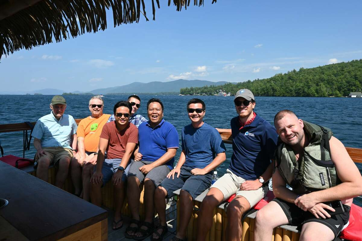 From left are Paulists Ron Roberson C.S.P, Paul Rospond C.S.P., Danilo Macalinao, Noah Ismael, Christopher Malano, Dat Tran CSP, Benjamin Chisholm and the man they rescued Jimmy Macdonald.