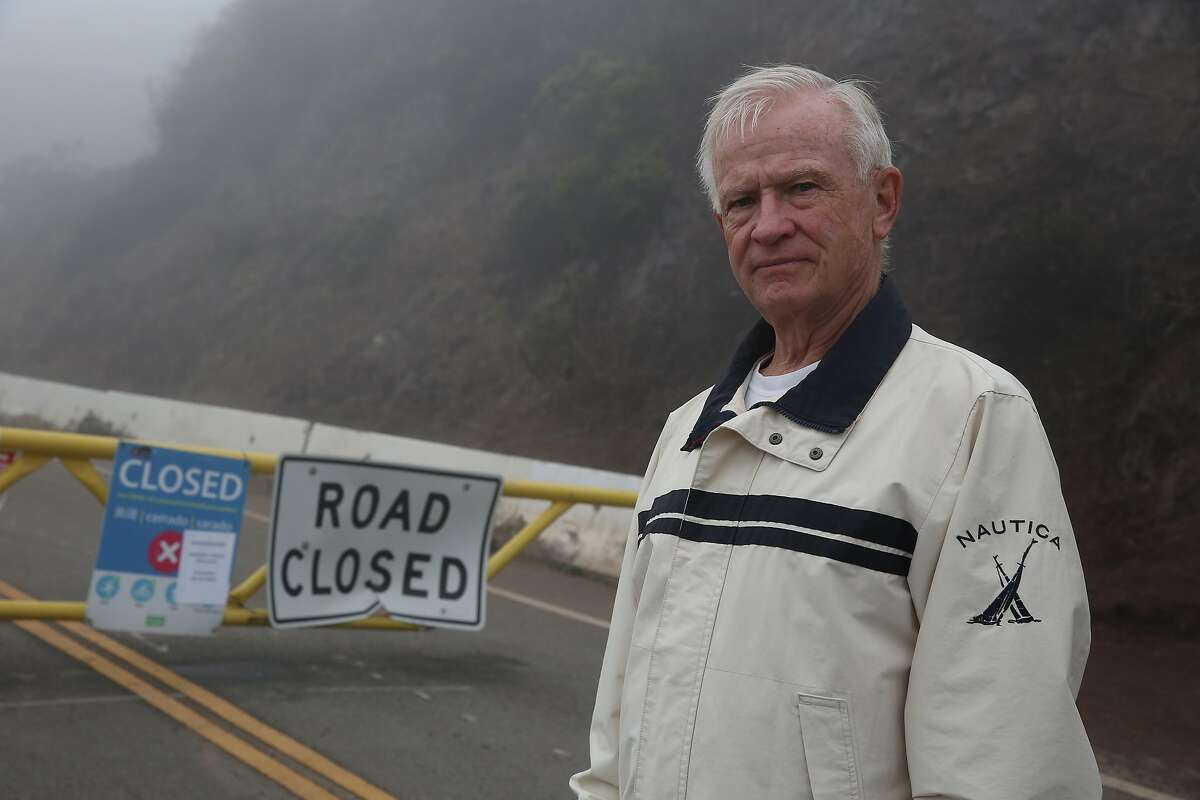 Gary Russ, Twin Peaks resident, stands for a portrait at the near the intersection of Twin Peaks Boulevard and Burnett Avenue at the road closure to Twin Peaks on Monday, August 31, 2020 in San Francisco, Calif.