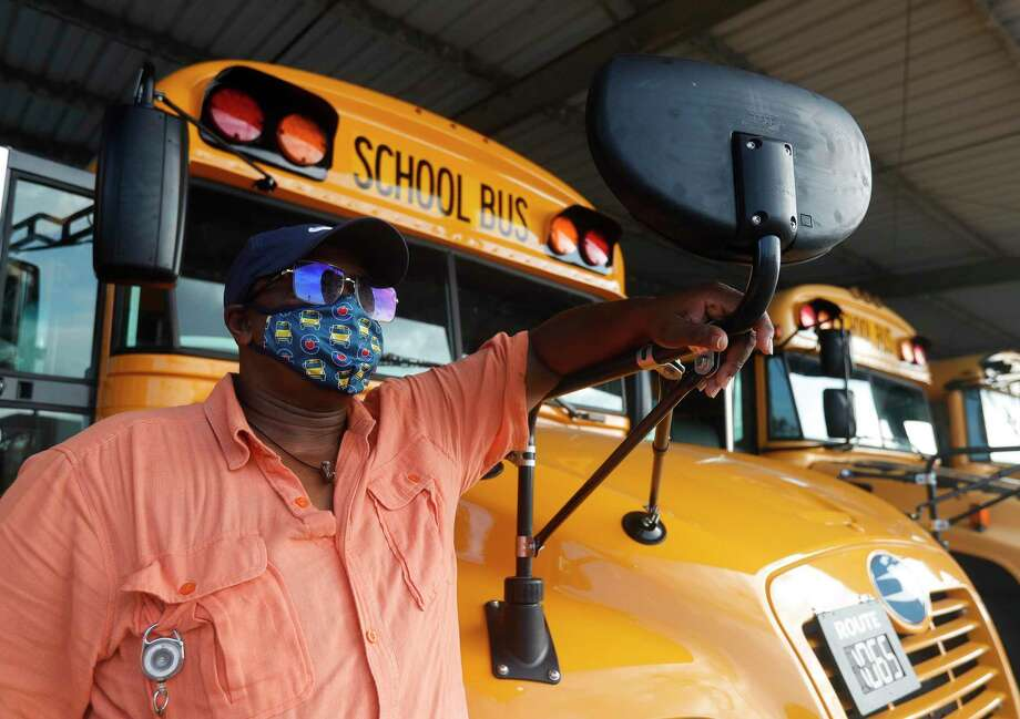 Conroe ISD bus driver Curtiss Chambers poses for a portrait at the district's transportation department, Friday, Sept. 4, 2020, in Conroe. The district will run more than 400 routes when it begins in-person classes Tuesday, Sept. 8. Photo: Jason Fochtman, Houston Chronicle / Staff Photographer / Houston Chronicle