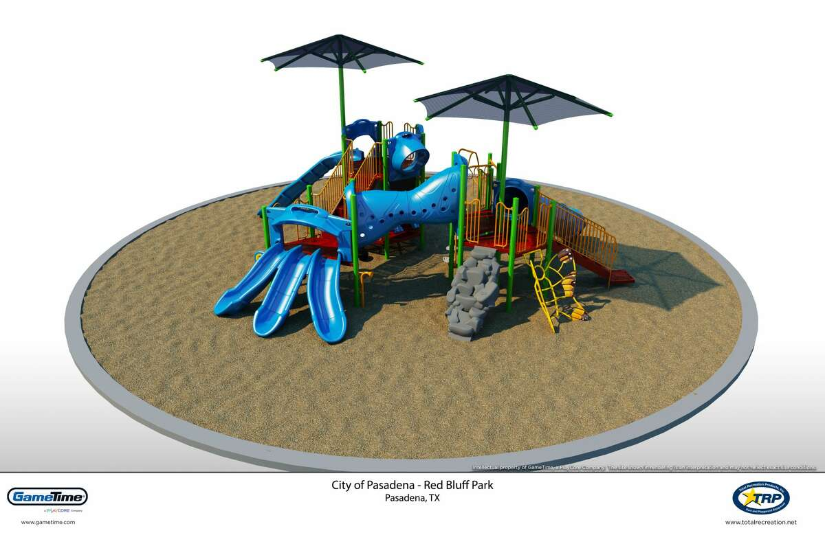 This illustration shows the type of play structure that is scheduled to replace an old one in Red Bluff Park in Pasadena.