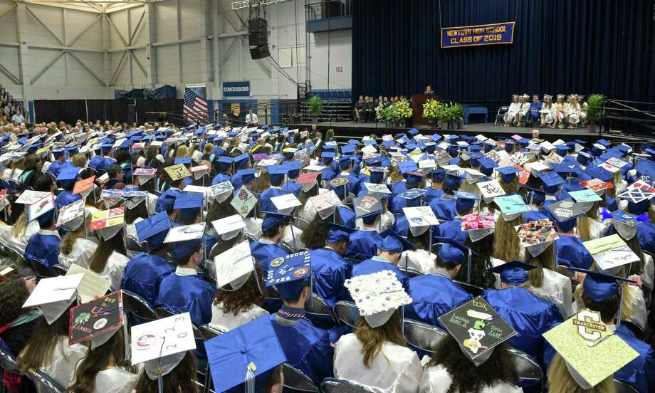 Newtown High School's 2019 graduation ceremony at the O'Neill Center of Western Connecticut State University in Danbury. Photo: H John Voorhees III / Hearst Connecticut Media / The News-Times