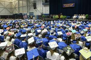 Newtown High School's 2019 graduation ceremony at the O'Neill Center of Western Connecticut State University in Danbury.
