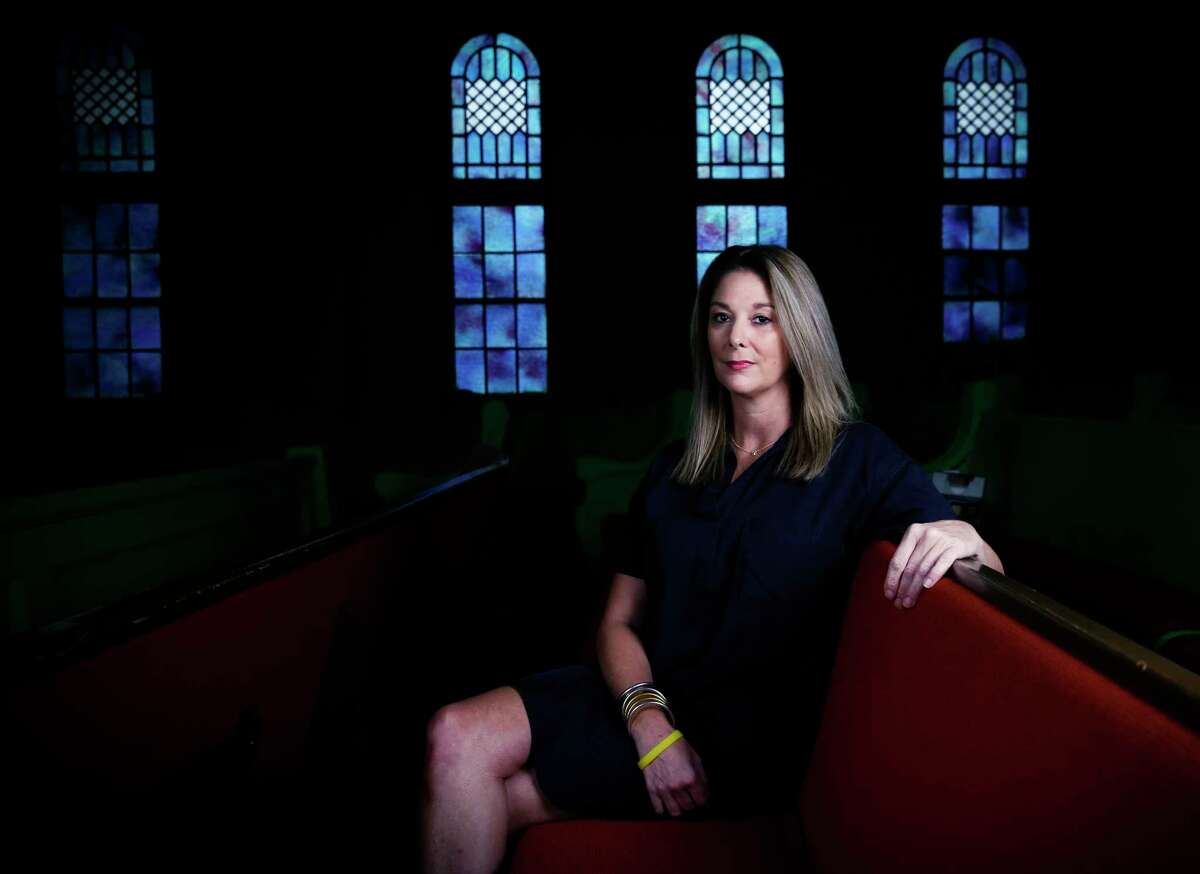 Randi Mahomes in her former childhood church in Troup, Texas on Wednesday, Sept. 2, 2020. Mahomes, mother of KC Chiefs' QB and Super Bowl MVP Patrick Mahomes, believes that raising her children in the church gave them a strong foundation of values and spiritual tools for facing challenges