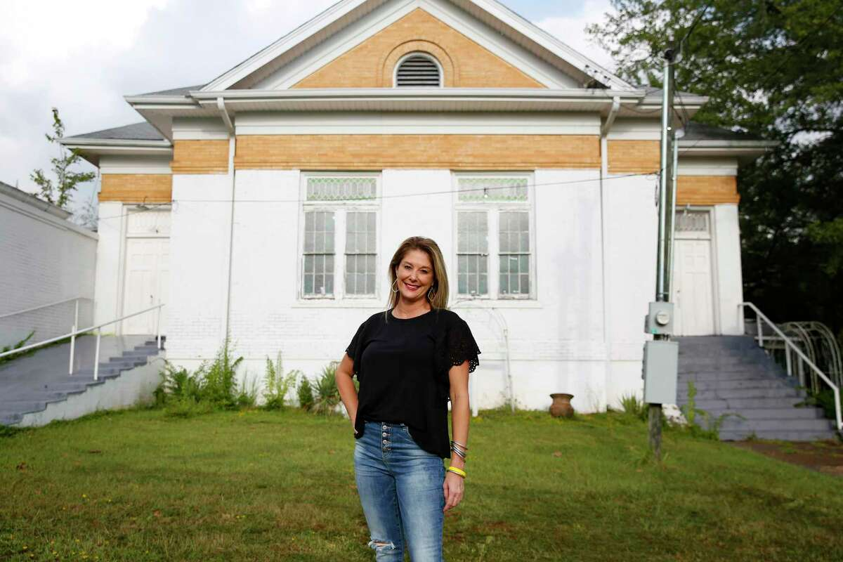Randi Mahomes in her former childhood church in Troup, Texas on Tuesday, Sept. 1, 2020. Mahomes, mother of KC Chiefs' QB and Super Bowl MVP Patrick Mahomes, believes that raising her children in the church gave them a strong foundation of values and spiritual tools for facing challenges