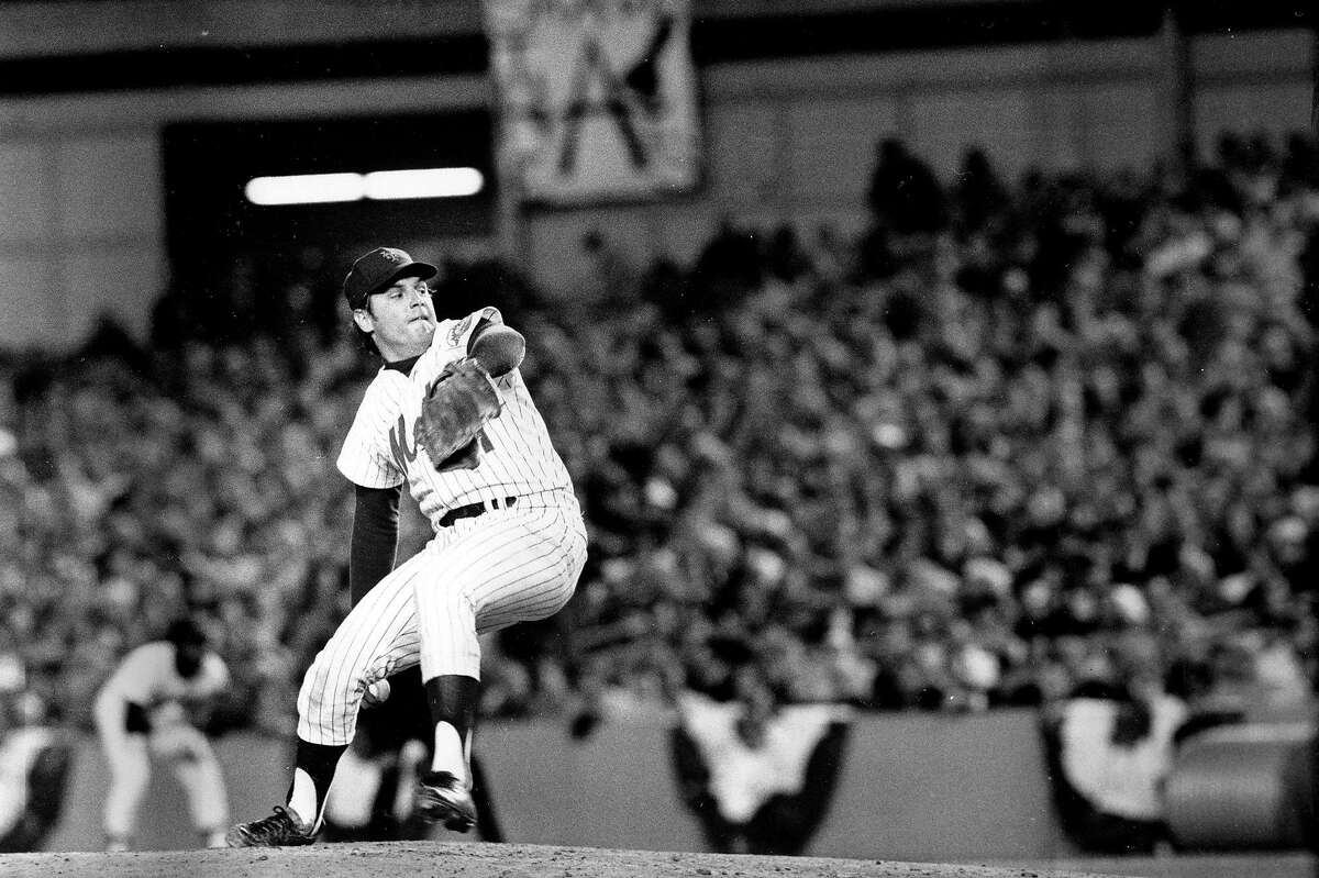New York Mets pitcher Tom Seaver winds up during first inning of game three of the World Series against the Oakland Athletics at Shea Stadium in New York City on Oct. 16, 1973. (AP Photo)