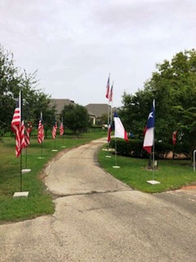 Flags at Memory Park for Labor Day include new Texas flags, a beautiful site. Flags throughout the park will remain through the 9/11 Patriot's Day weekend. Photo: Courtesy Photo