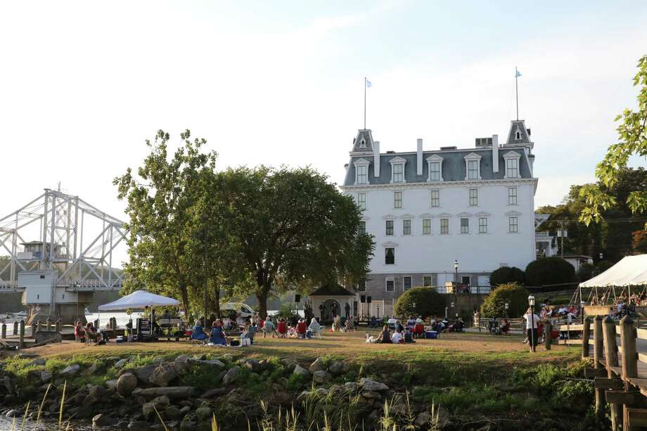 The iconic Goodspeed Opera House and one of its recent lawn concerts. Photo: Goodspeed Musicals / Contributed Photo / ©2020 Diane Sobolewski