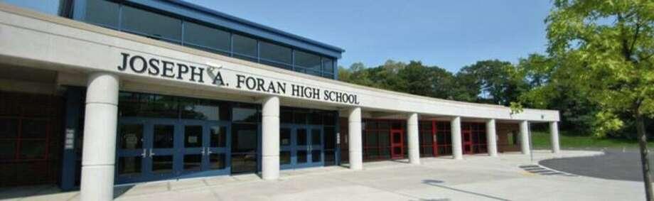 Joseph A. Foran High School in Milford Photo: Contributed