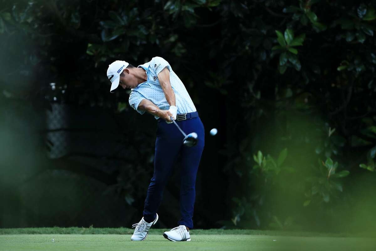 ATLANTA, GEORGIA - SEPTEMBER 04: Collin Morikawa of the United States plays his shot from the 13th tee during the first round of the TOUR Championship at East Lake Golf Club on September 04, 2020 in Atlanta, Georgia. (Photo by Sam Greenwood/Getty Images)