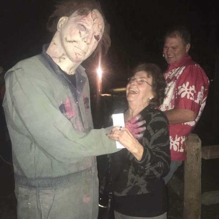 This file photo shows people enjoying R Acres of Terror outside of Dow in former years. Owner Ron Root has announced that the popular haunted attraction will close permanently and not be open this Halloween.