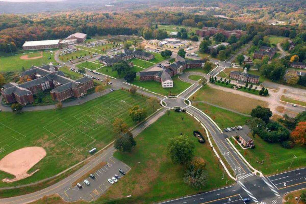 An overhead image of Newtown's Fairfield Hills campus.