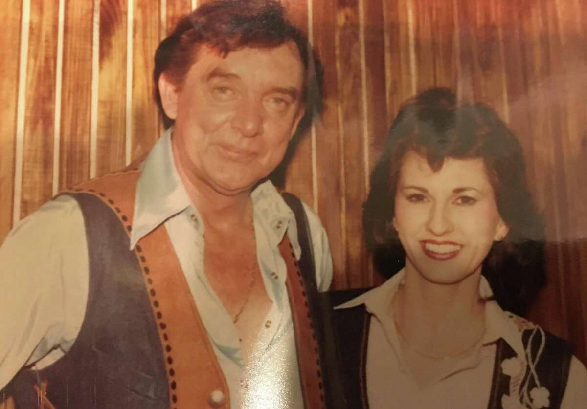 Donna Choate with Ray Price at the Conroe Ballroom.