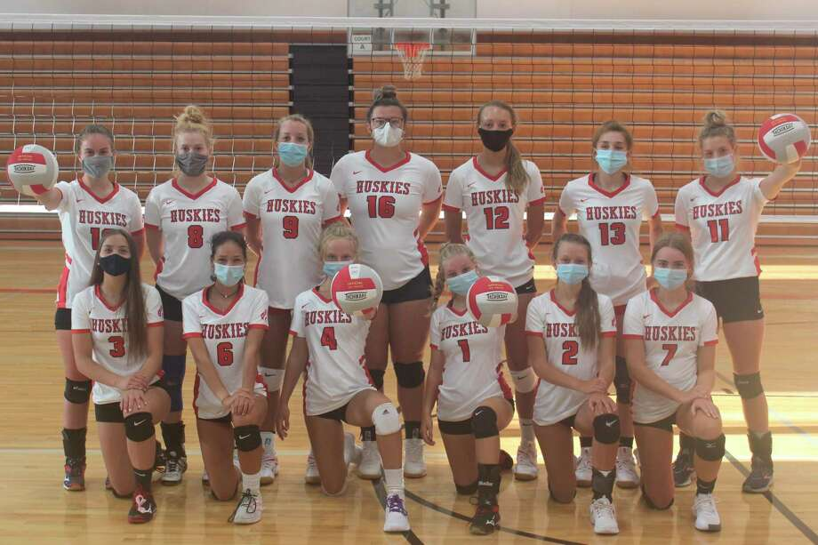 BENZIE CENTRAL VARSITY VOLLEYBALL: Pictured are (front row, left to right) Rylee Lane, Triniti Dalzell, Emma Brooks, Ryleigh Frisbie, Chelsey Lindman, Kara Johnson; (back row, left to right) Autumn Wallington, Alison Moore, Nona Schultz, Madison Evans, Ava Bechler, Lilly Leatherman and Alyssa Brouwer. (Photo/Robert Myers)