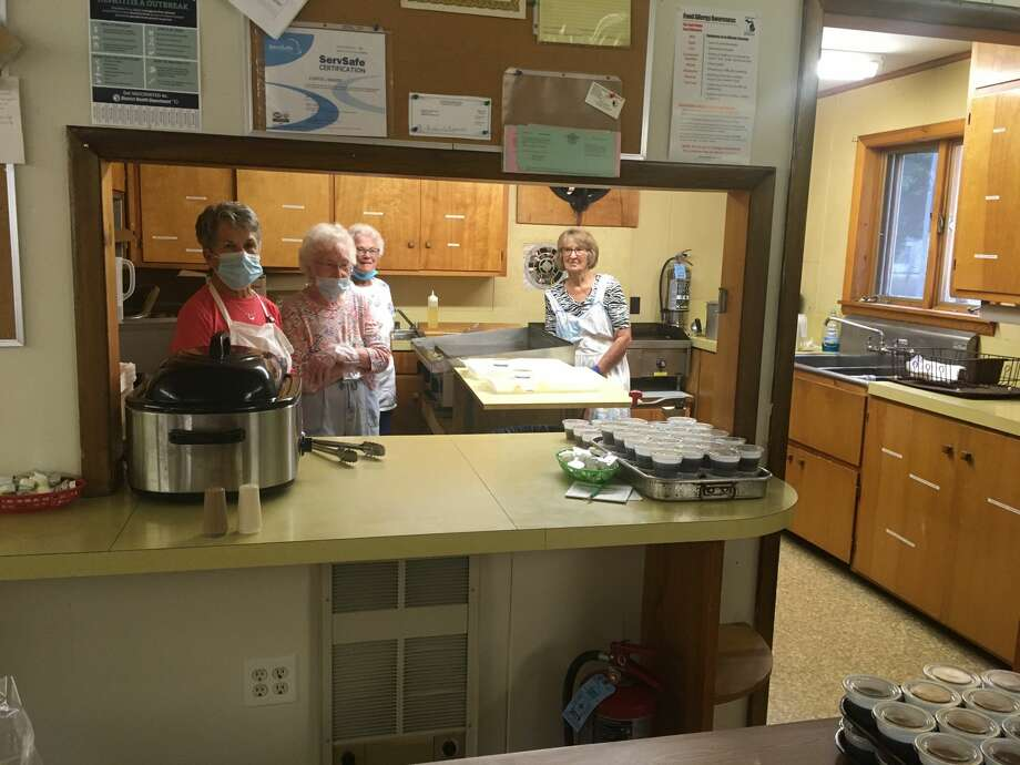 The Arcadia Lions Club started hosting drive-through pancake breakfasts on Aug. 2. The final two breakfasts in August were served by the FCE Herring Hill and Dale Women's Extension Club, members of which are pictured. Photo: Courtesy Photo