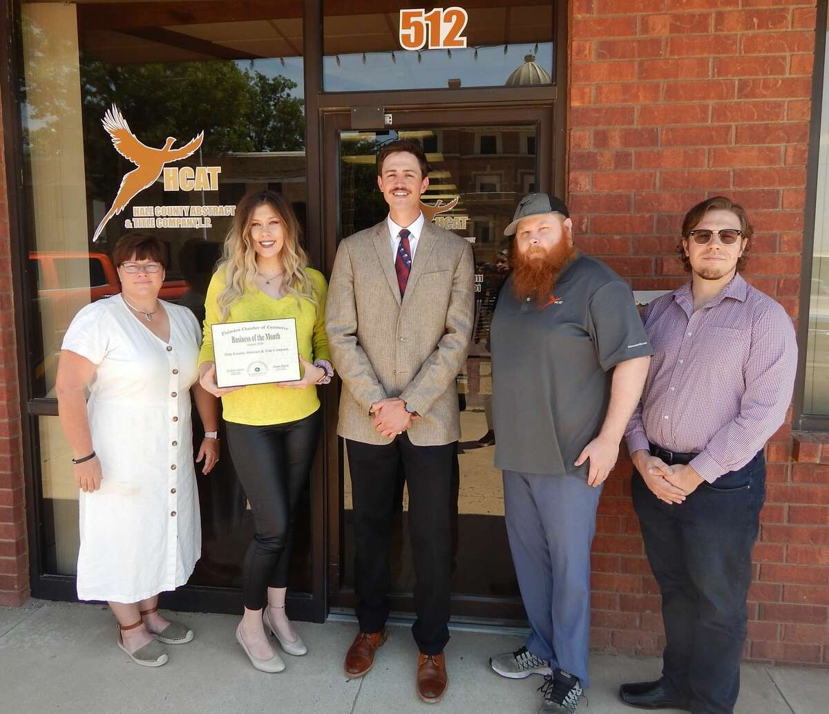 Hale County Abstract & Title Company was named the August Business of the Month by the Plainview Chamber of Commerce.