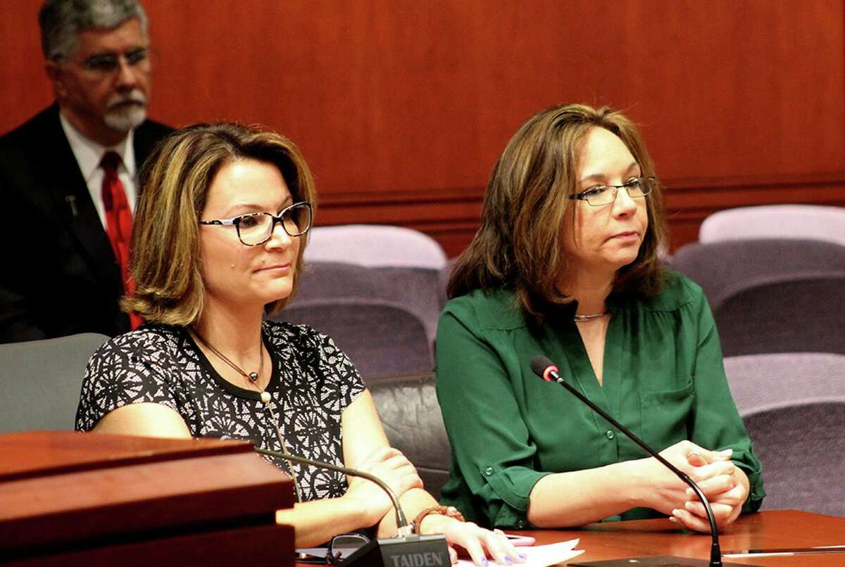 Seymour Rep. Nicole Klarides-Ditria and Seymour Selectman Annmarie Drugonis testified together in the Planning and Development Committee on Wednesday, Jan. 15, 2017.
