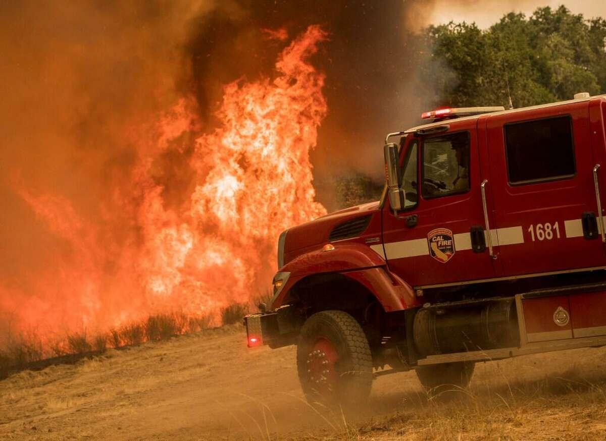 A backburn on Buck Mountain is used to help fight the Carmel Fire near Carmel Valley last month.