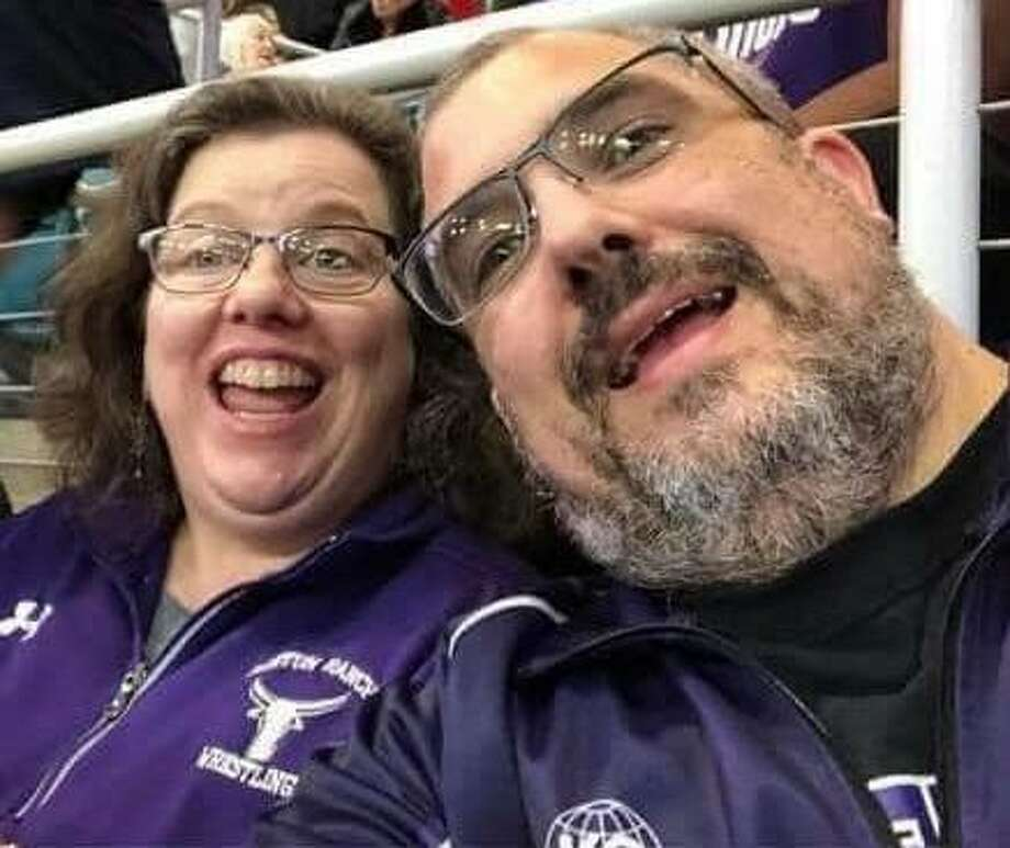 Morton Ranch High School nurse Kelly Balser died Friday, Sept. 4, after a monthlong fight against COVID-19. Her death is the first reported Katy Independent School District death related to COVID-19. She is pictured here with her husband, Mark. Photo: Courtesy Photo/Facebook