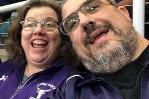 Morton Ranch High School nurse Kelly Balser died Friday, Sept. 4, after a monthlong fight against COVID-19. Her death is the first reported Katy Independent School District death related to COVID-19. She is pictured here with her husband, Mark.