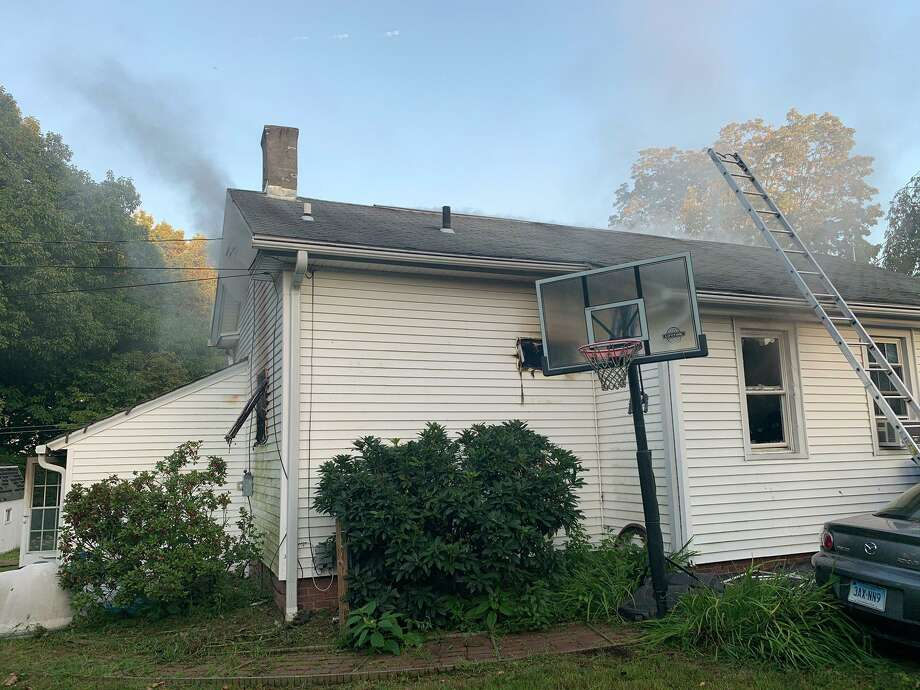Two people were displaced after a fire in the rear of a Shepard Avenue home in Hamden, Conn. Friday, Sept. 4. Photo: Contributed /Hamden Fire Department