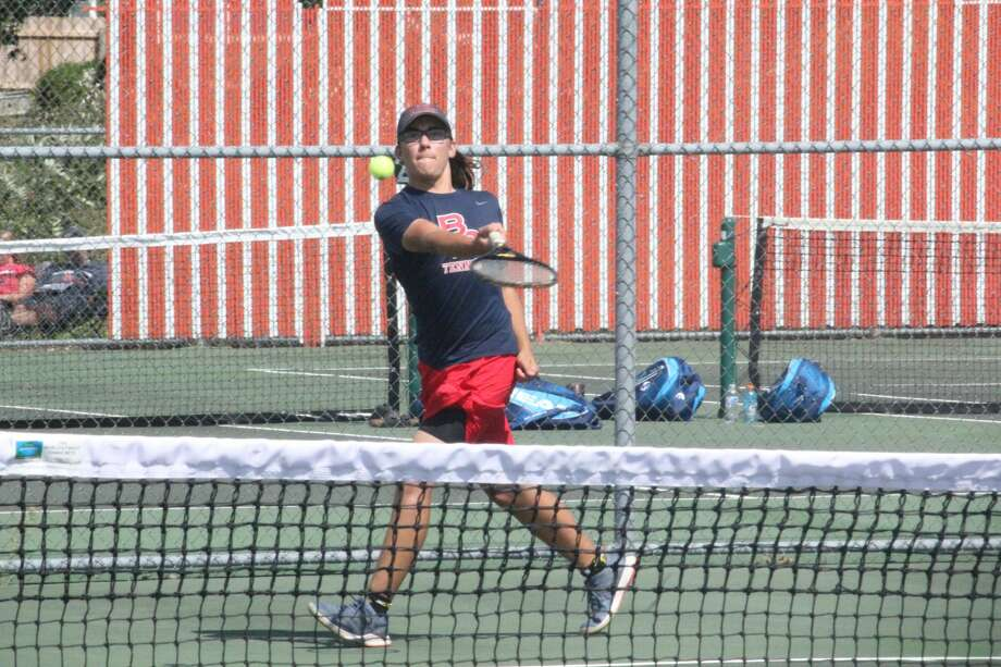 Big Rapids boys tennis team takes second place at the Cedar Springs quad on Thursday. Photo: John Raffel