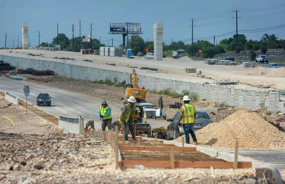Construction continues Sept. 3 on the expansion of U.S. 281 near Marshall Road.
