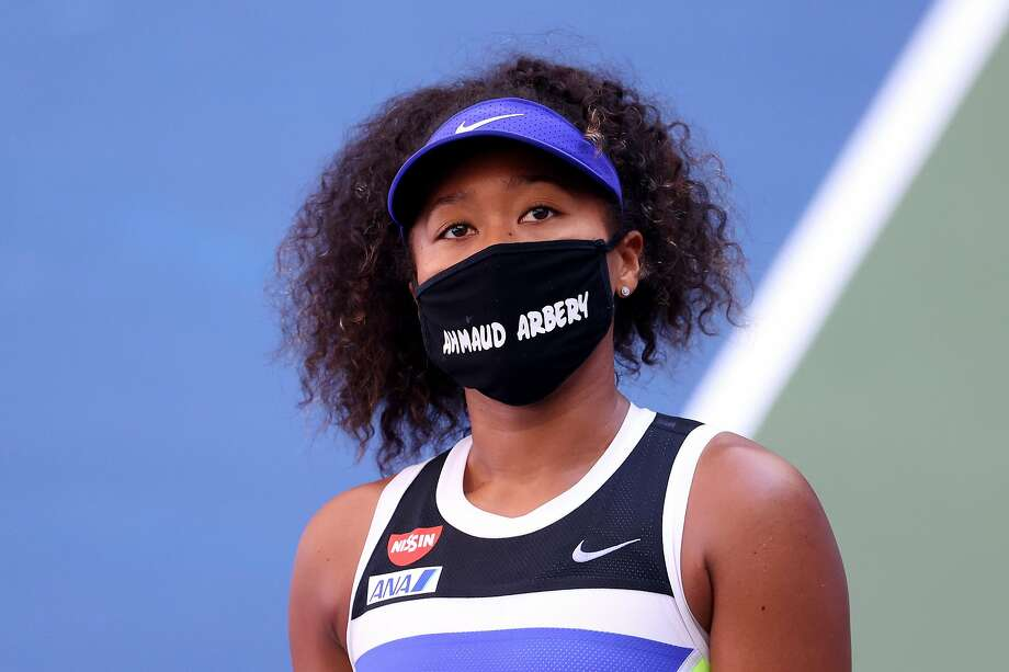 Naomi Osaka improved to 7-0 since tennis resumed after a five-month hiatus because of the pandemic. Photo: Al Bello / Getty Images