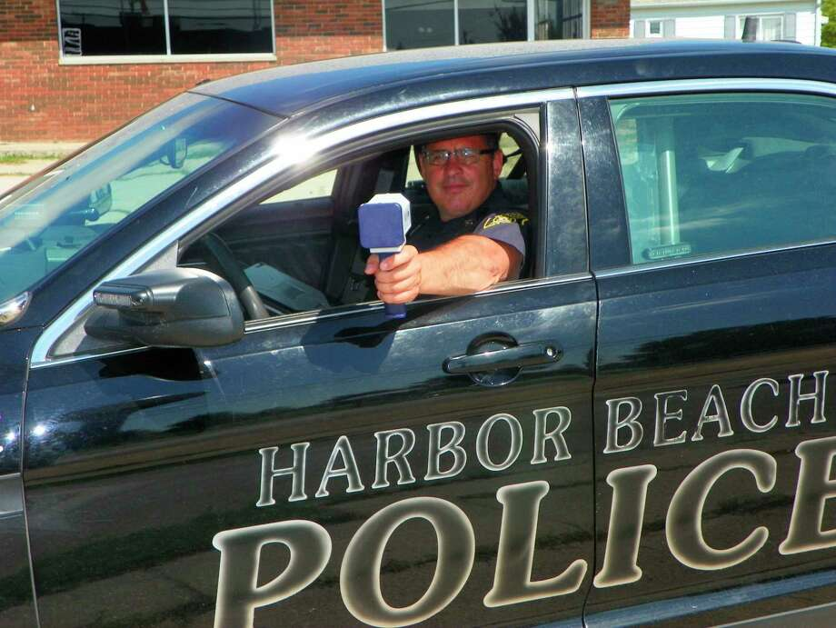 An anonymous donor recently provided the Harbor Beach Police Department with a hand-held radar gun. (Rich Harp/For the Tribune)