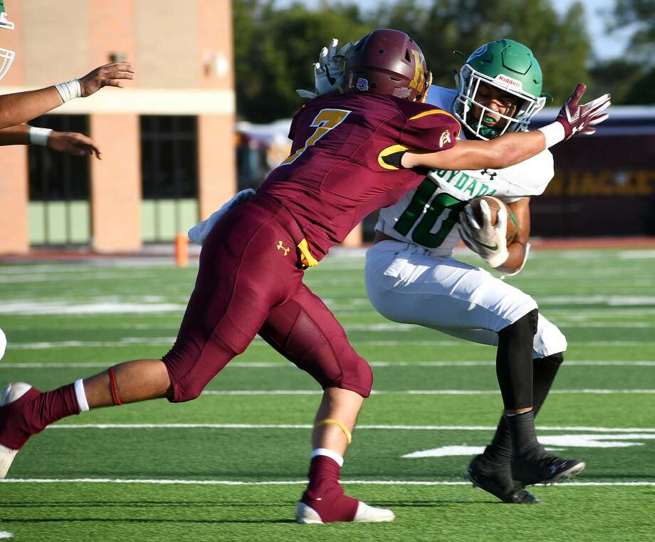 Floydada knocked off Kermit 22-6 in a non-district high school football game on Friday, Sept. 4, 2020 in Tyer Stadium in Floydada. Photo: Nathan Giese/Planview Herald