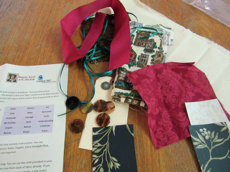 Creative 360 is providing a selection of free take-home activity kits to make meditation flags as part of Karma Month. The kits include instructions and enough materials to make three flags.(Victoria Ritter/vritter@mdn.net)